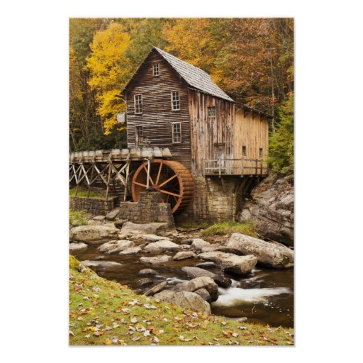 Glade Creek Grist Mill, Babcock State Park, Posters