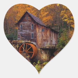 Glade Creek Grist Mill Heart Sticker