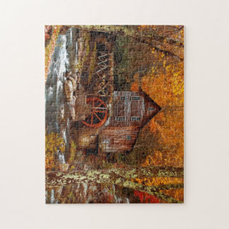 Glade Creek Grist Mill Jigsaw Puzzle