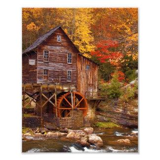 Glade Creek Grist Mill Photo Print
