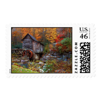 Glade Creek Grist Mill Stamps