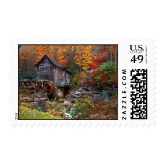 Glade Creek Grist Mill Postage Stamps