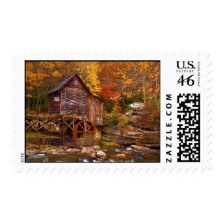 Glade Creek Grist Mill Stamp