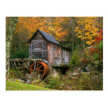 Glade Creek Grist Mill Postcard