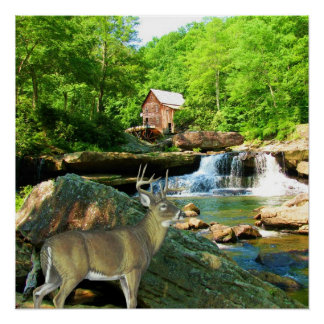 GLADE CREEK GRIST MILL-POSTER POSTER