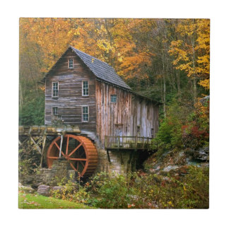 Glade Creek Grist Mill Small Square Tile