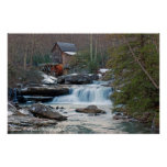 Glade Creek Gristmill II Poster