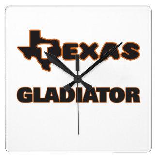 Gladiador de Tejas Reloj Cuadrado