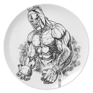gladiador lanzamiento de peso plato de cena