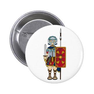 Gladiador romano con el botón pins