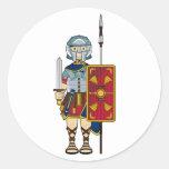 Gladiador romano con el pegatina del escudo