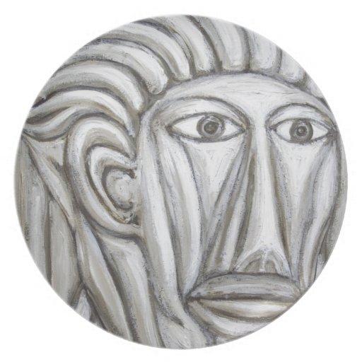Gladiador romano (expresionismo del retrato) platos