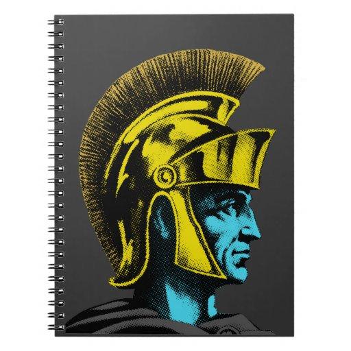 Gladiador romano gráfico libros de apuntes con espiral
