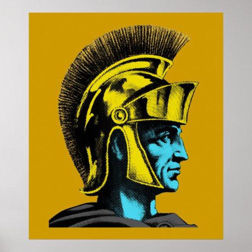 Gladiador romano gráfico impresiones