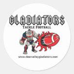 Gladiadores Pegatina Redonda
