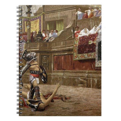 Gladiadores romanos antiguos cuadernos