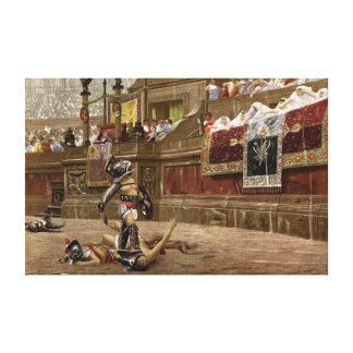 Gladiadores romanos antiguos lona estirada galerías