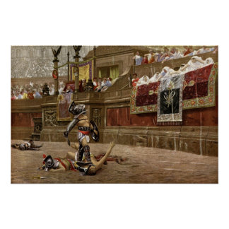 Gladiadores romanos antiguos póster