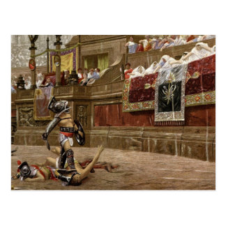 Gladiadores romanos antiguos tarjetas postales