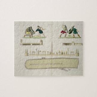 Gladiadores y un plan del circo de Caracalla, Rompecabezas Con Fotos