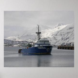 Gladiatior barco rastreador de la pesca profesion poster