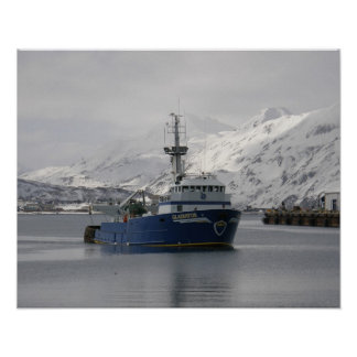 Gladiatior, Commercial Fishing Trawler in Alaska Poster
