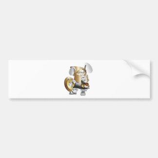 Gladiator Bunny Bumper Sticker