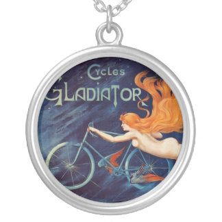 Gladiator Cycles 1905 Round Pendant Necklace