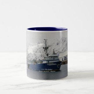 Gladiator, Fishing Trawler in Dutch Harbor, AK Two-Tone Coffee Mug