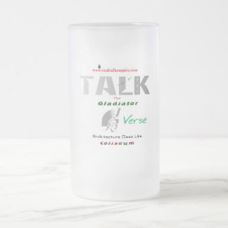 gladiator - glass frosted glass beer mug