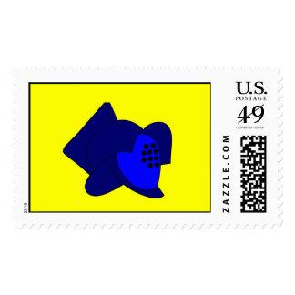Gladiator Helmet Postage Stamp