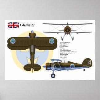 Gladiator J8 Sweden Poster