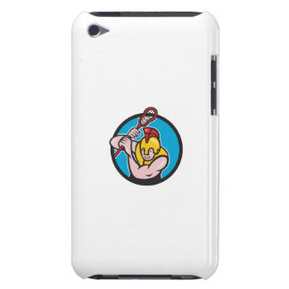 Gladiator Lacrosse Player Stick Circle Cartoon Case-Mate iPod Touch Case
