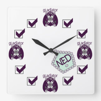 gLadiator me cLean sLate NED Square WaLL CLock 3