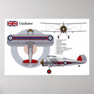 Gladiator Mk I 72 Squadron Poster