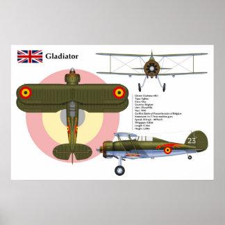 Gladiator Mk I Belgium Poster