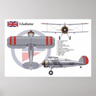 Gladiator Mk I Norway Poster