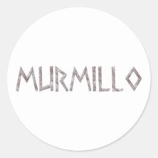 Gladiator Murmillo Classic Round Sticker