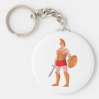 gladiator roman centurion warrior standing keychain