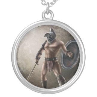Gladiator Round Pendant Necklace