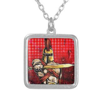 Gladiator Square Pendant Necklace