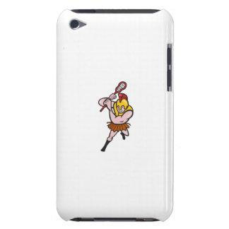 Gladiator Striking Lacrosse Stick Cartoon iPod Case-Mate Cases