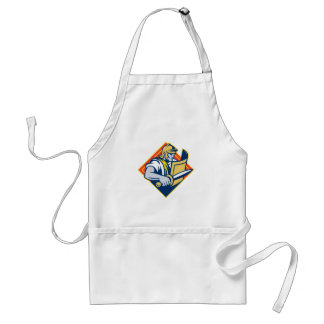 Gladiator With Sword And Shield Adult Apron