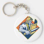 Gladiator With Sword And Shield Key Chains