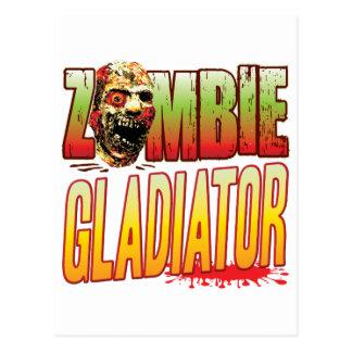 Gladiator Zombie Head Postcard