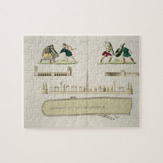 Gladiators and a plan of the circus of Caracalla, Jigsaw Puzzle