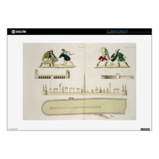 Gladiators and a plan of the circus of Caracalla, Skin For Laptop