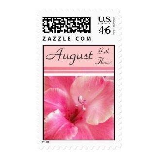 Gladiola Birth Flower Postage Stamps - AUGUST