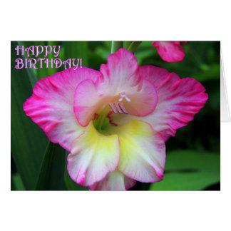 Gladiola Birthday 2 Card