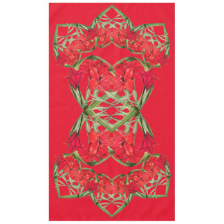 Gladiola Floral Hearts Of Flowers Tablecloth